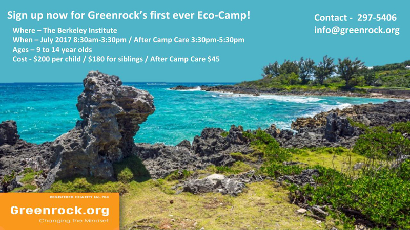 Eco Camp Greenrock Bermuda June 6 2017