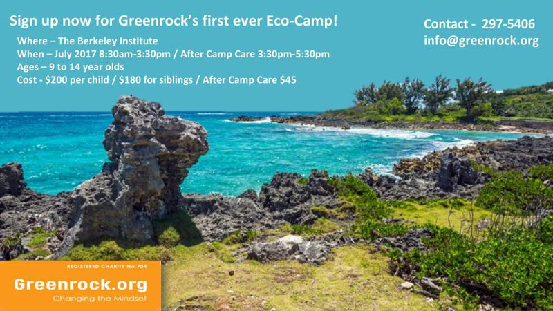 Eco Camp Greenrock Bermuda June 6 2017
