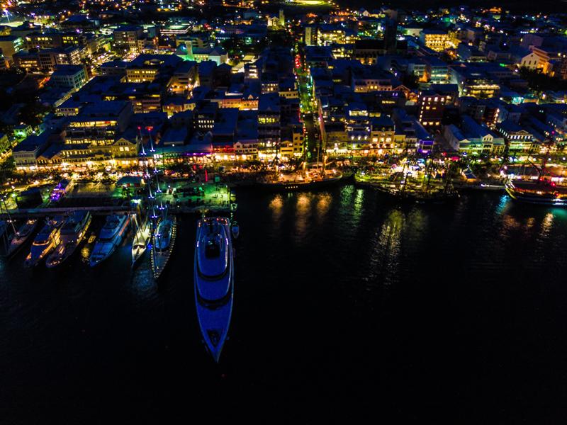 Front Street Aerial Night Bermuda June 2017