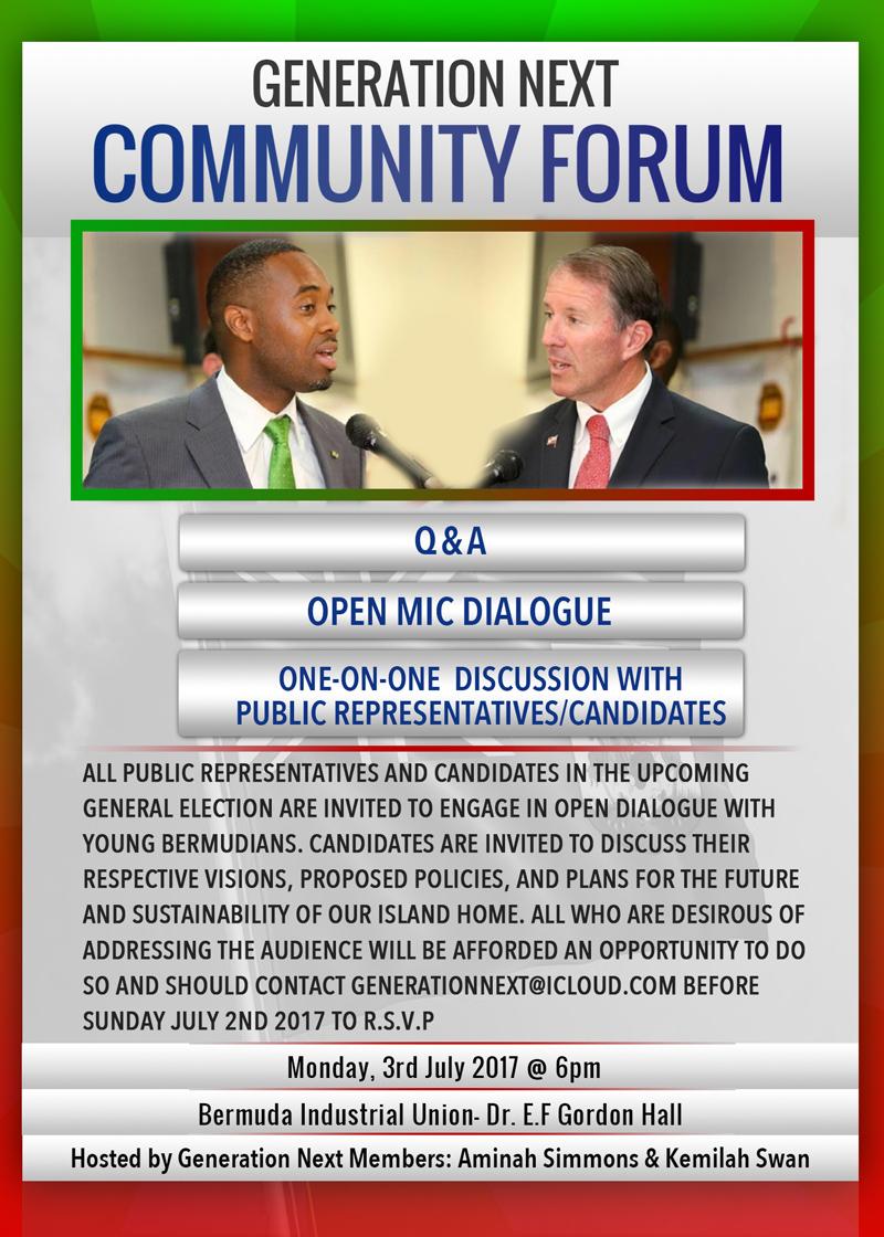 Generation Next Community Forum Bermuda June 2017