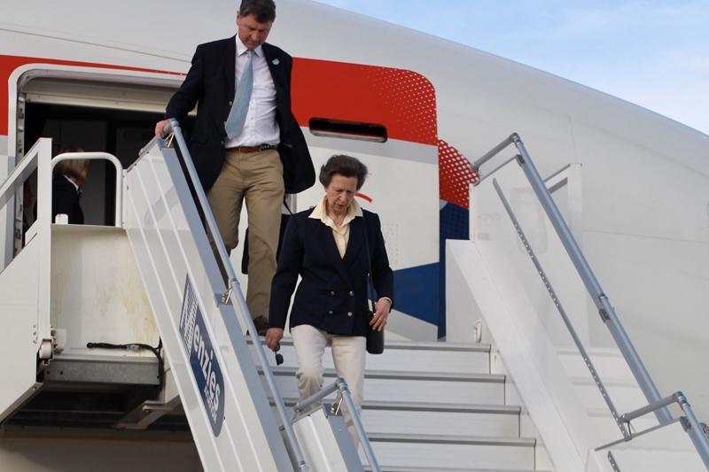 Princess Royal's Arrival in Bermuda 25 June (1)