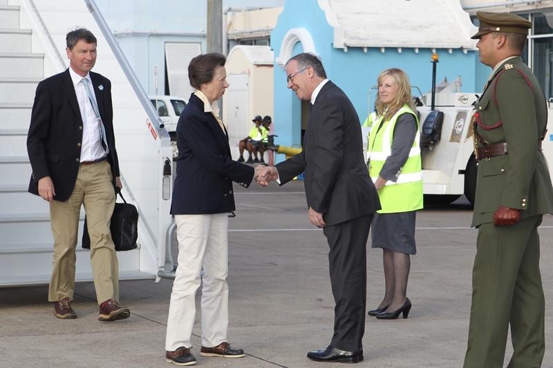 Princess Royal's Arrival in Bermuda 25 June (2)