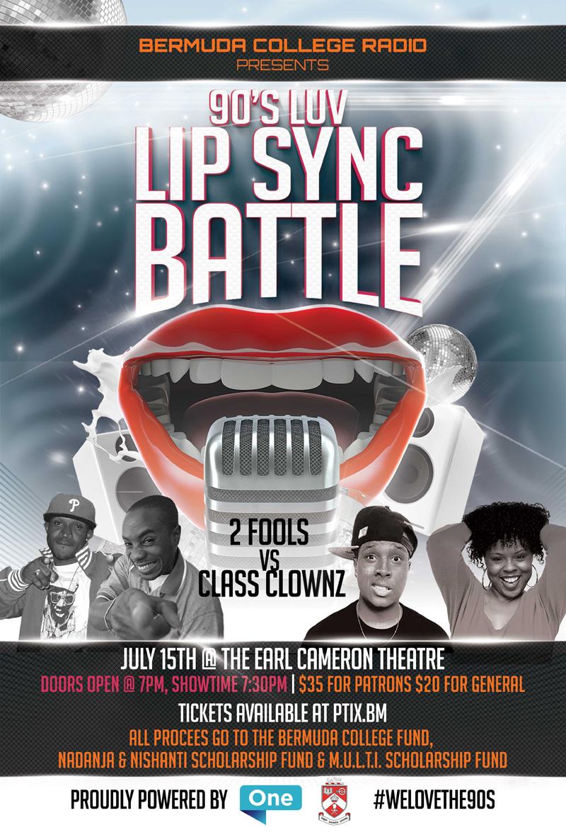 '90's luv' lip sync battle Bermuda July 2017
