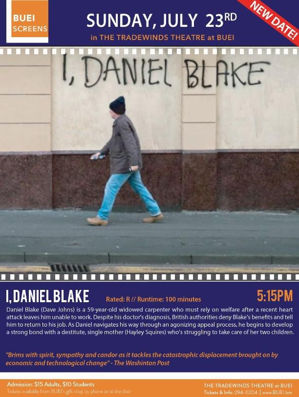 BUEI I, Daniel Blake Bermuda July 2017
