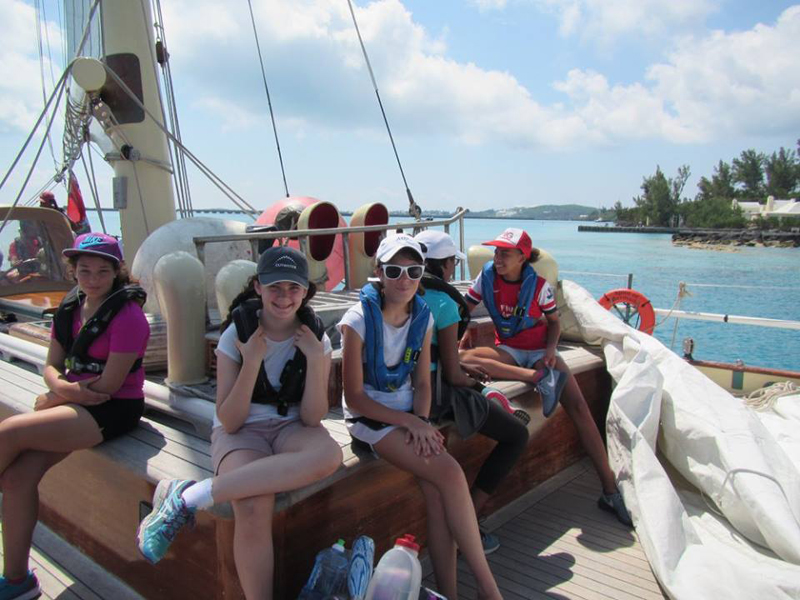 Bermuda High School's Sloop expedition  July 2017 (2)