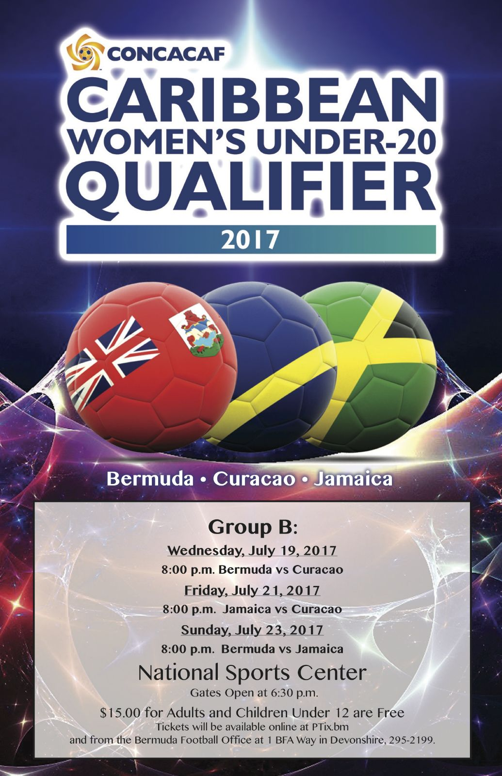 Caribbean Women's Under-20 Qualifier Bermuda July 2017