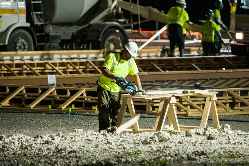 First Concrete Pour At Airport Bermuda July 2017 (2)