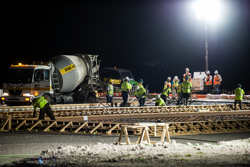 First Concrete Pour At Airport Bermuda July 2017 (4)