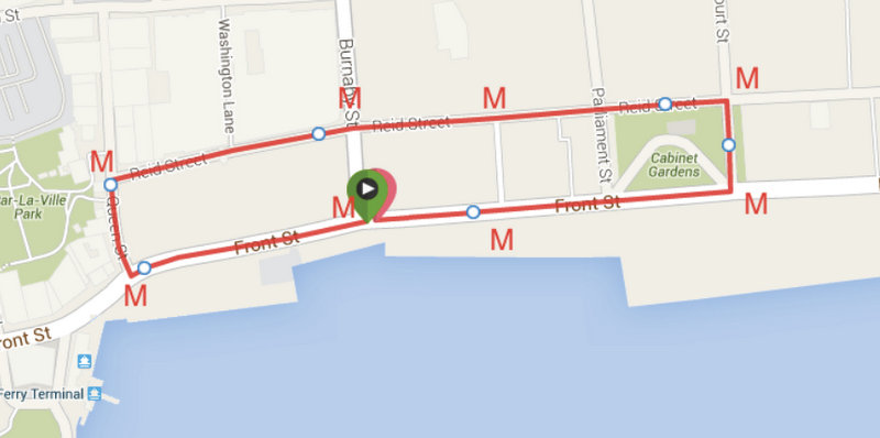 Front Street Bike Race Map