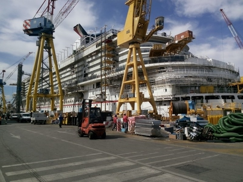 Carnival Horizon Construction Continues In Italy Bernews