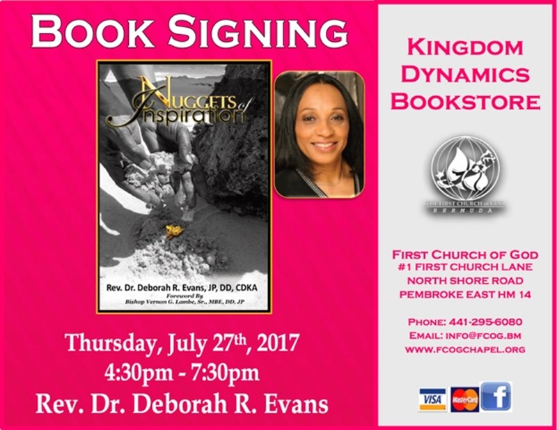 Pastor Evans - Book Signing July 27 2017