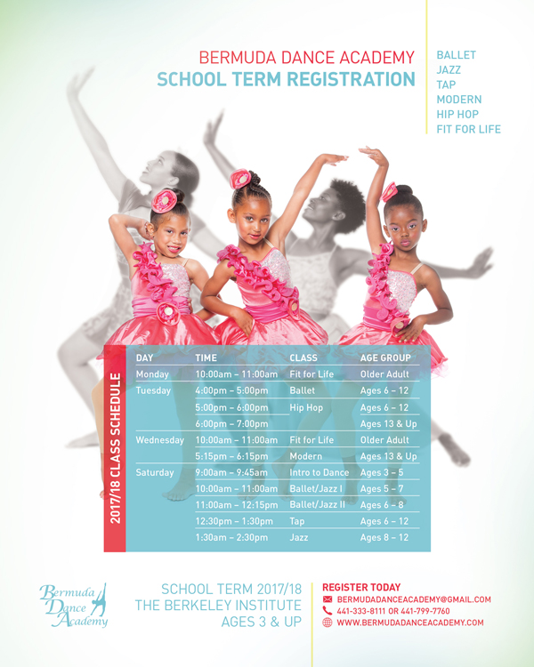 BDA School Term Schedule Bermuda Aug 2017