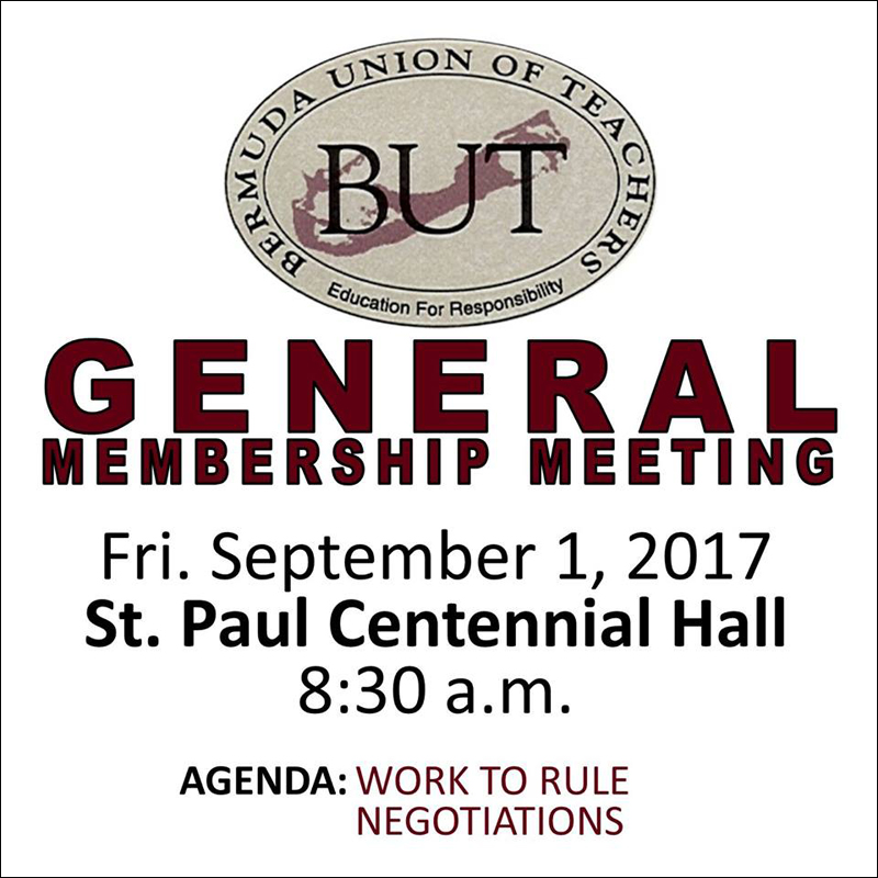 BUT General Membership Meeting August 25 2017