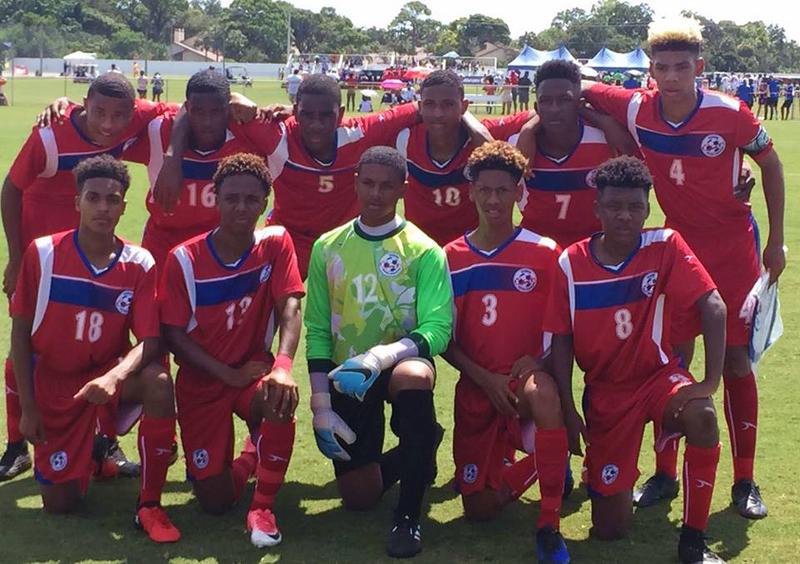 Bermuda U15 Footballers August 2017