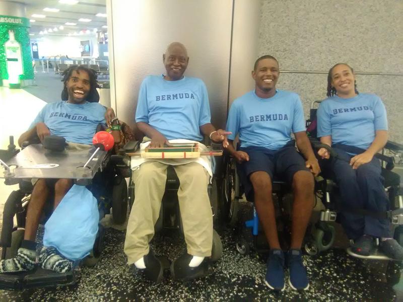 Boccia athletes Bermuda Aug 2017