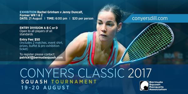 Conyers Squash Classic 2017 Bermuda Aug 2017