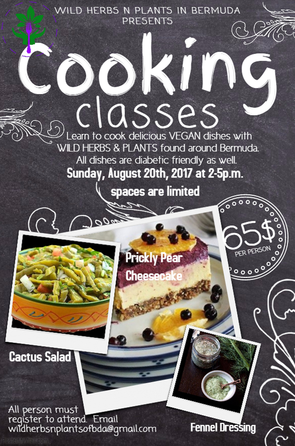 Cooking Classes Bermuda Aug 2017