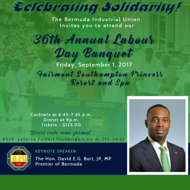 Labour Day Banquet 2017