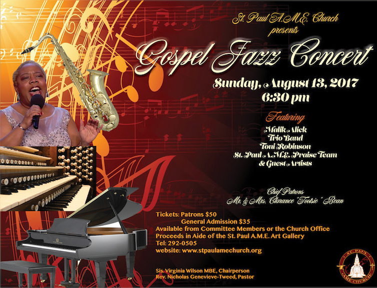 St Paul AME Church Gospel Jazz Concert Bermuda Aug 2017