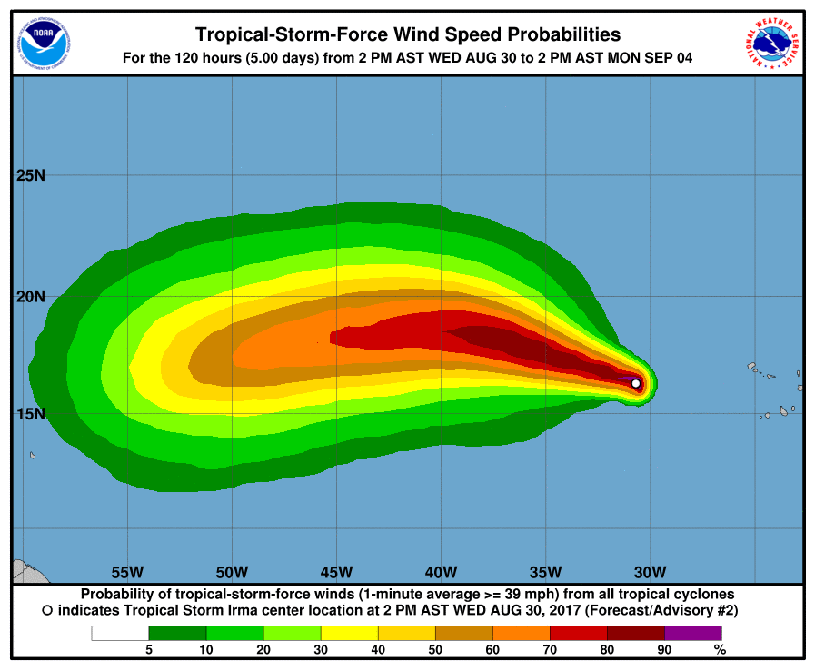 Tropical Storm Irma Bermuda August 30 2017 1