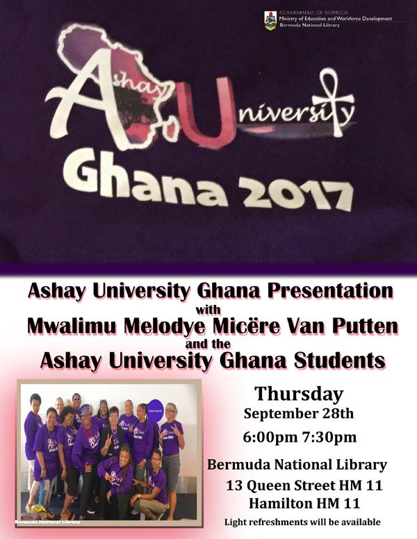 Ashay University Ghana Presentation Bermuda Sept 2017