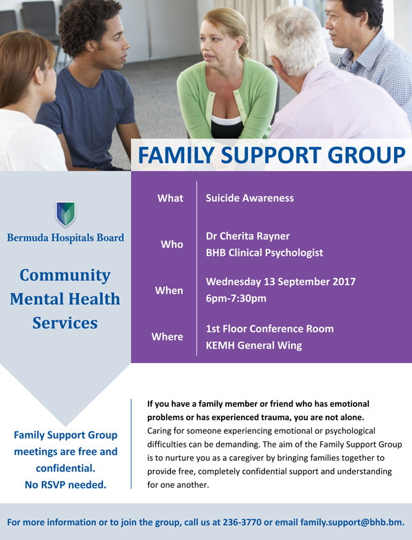 BHB Family Support Group Lecture - 13 September 2017