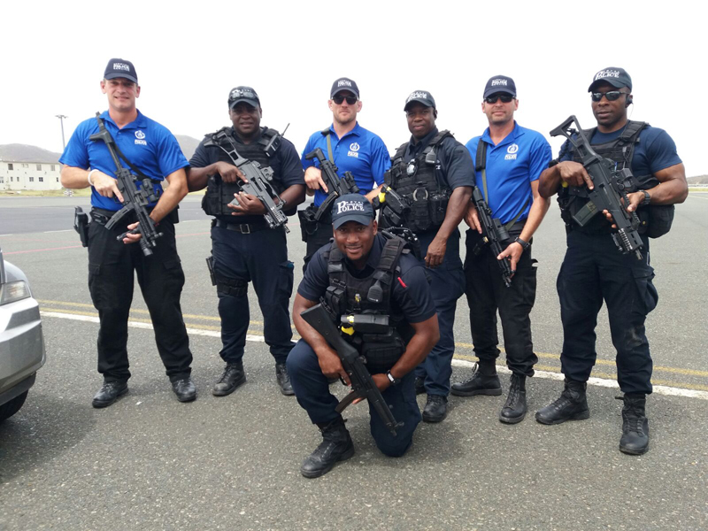 BVI Deployment 3 BPS Armed Officers & 4 RCIPS Armed Officers Bermuda Sept 2017