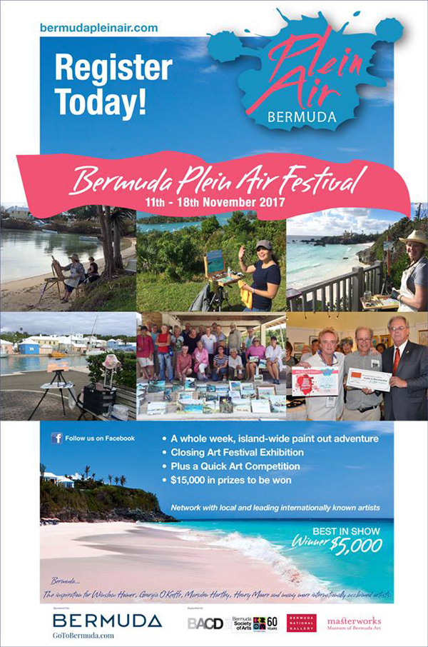 Bermuda Plein Air Festival and Exhibition Sept 2017