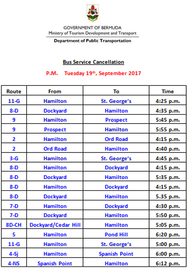 Bus Service Cancellation Bermuda Sept 19 2017 (2)