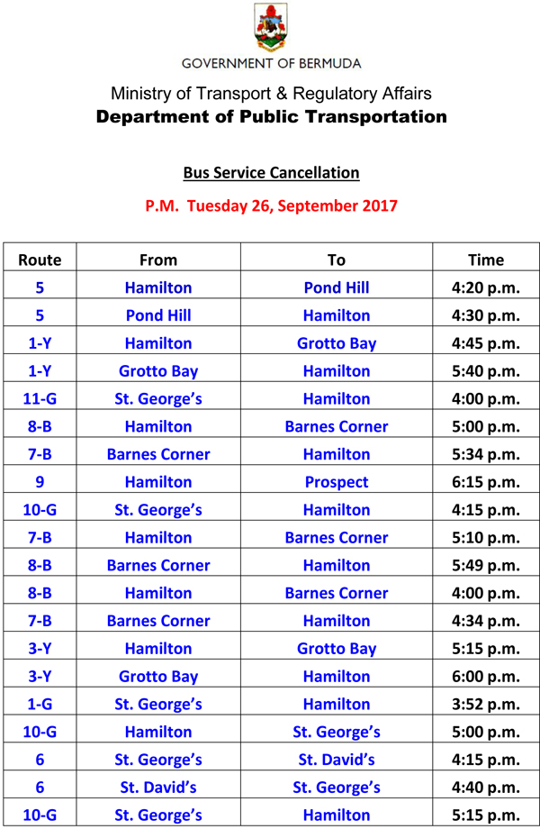 Bus Service Cancellation Tuesday 26-9-2017-1