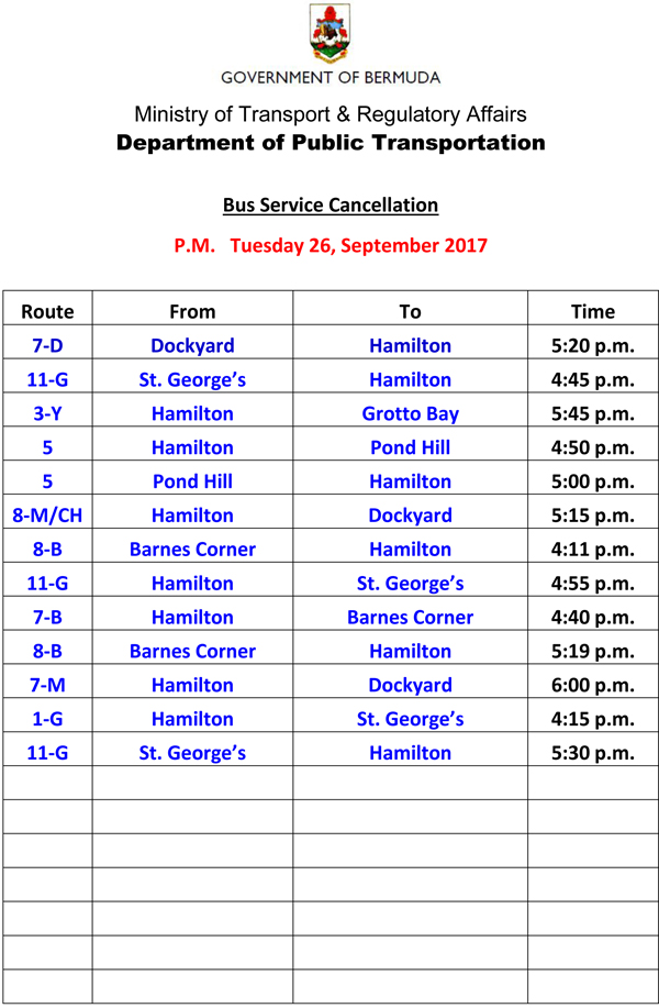 Bus Service Cancellation Tuesday 26-9-2017-3