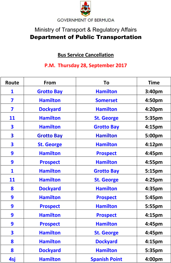 Bus Service Cancellations Thursday 28-9-2017-1