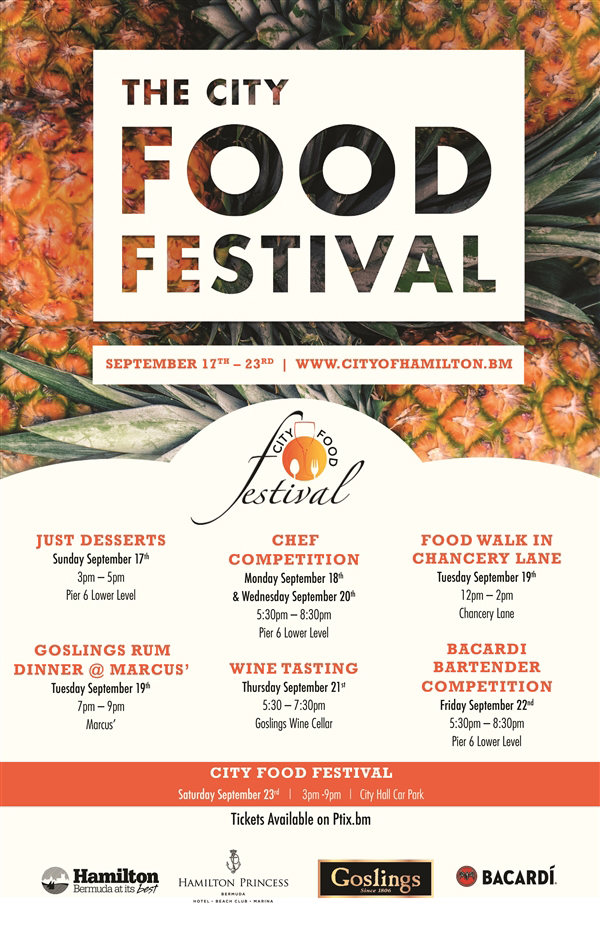 City Food Festival Bermuda Sept 2017