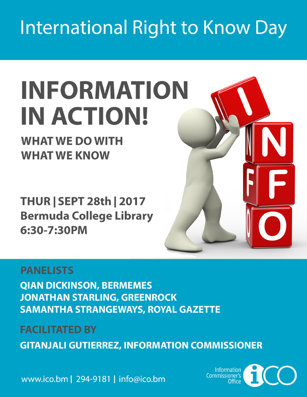 International Right to Know Day Bermuda Sept 2017