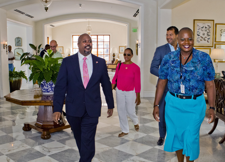 Minister Simmons and MP Furbert Tucckers Point Bermuda Sept 27 2017 (1)