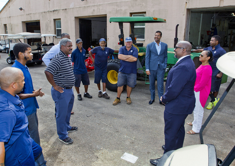 Minister Simmons and MP Furbert Tucckers Point Bermuda Sept 27 2017 (7)