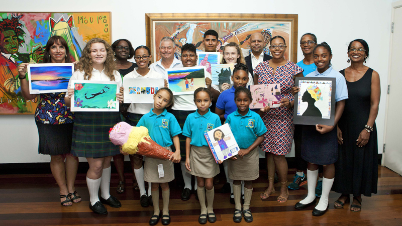 Mirrors Art Competition Award Bermuda Sept 2017 (1)