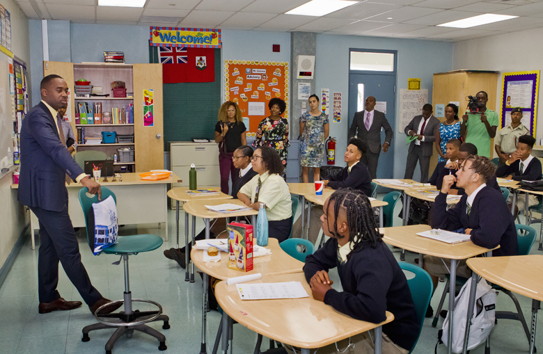 Premier School Greeting Berkeley Bermuda Sept 11 2017 (2)