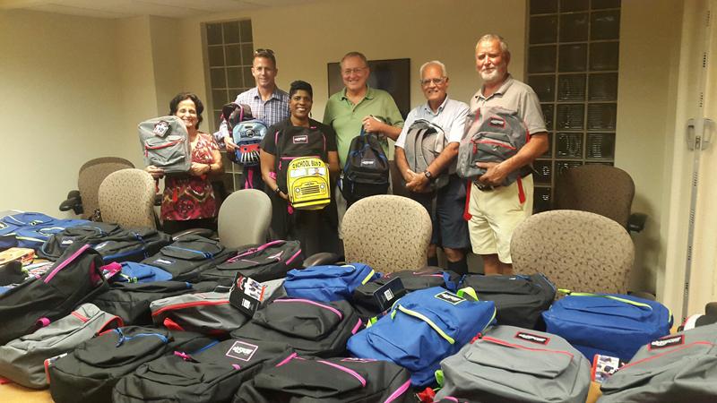 Rotary Backpack Presentation Bermuda Sept 2017