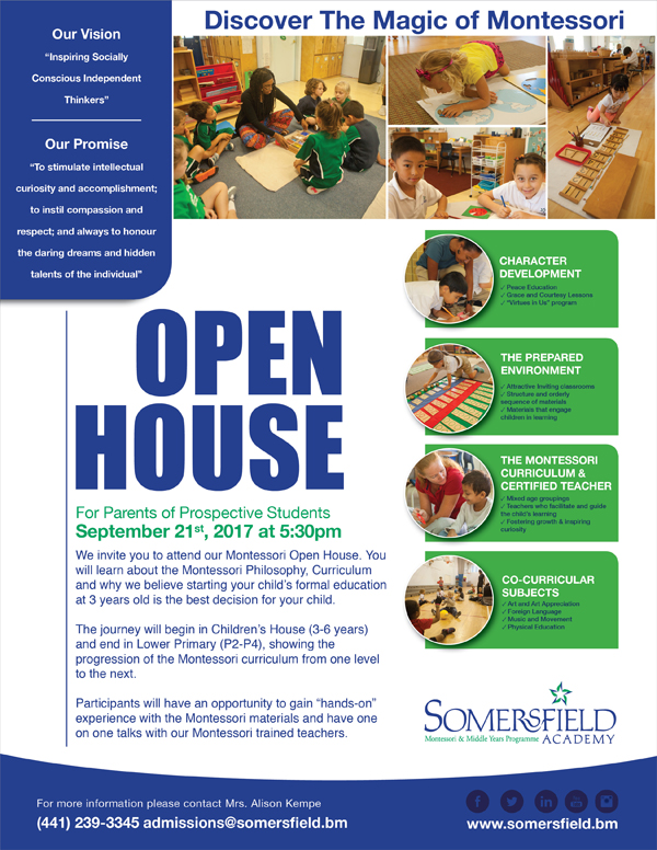 Somersfield Academy Open House Bermuda Sept 2017