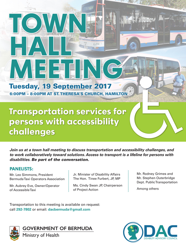 Town Hall Meeting Bermuda Sept 2017