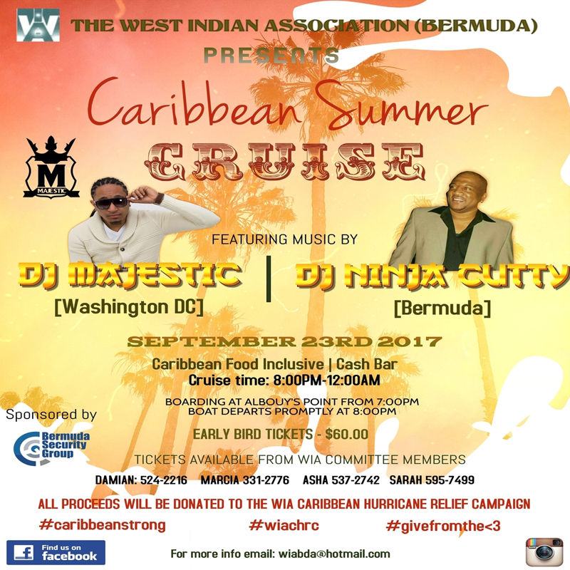 WIA Caribbean Summer Cruise Bermuda September 12 2017