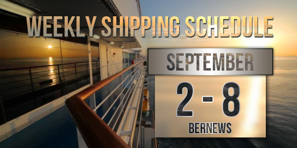 Weekly Shipping Schedule TC September 2-8
