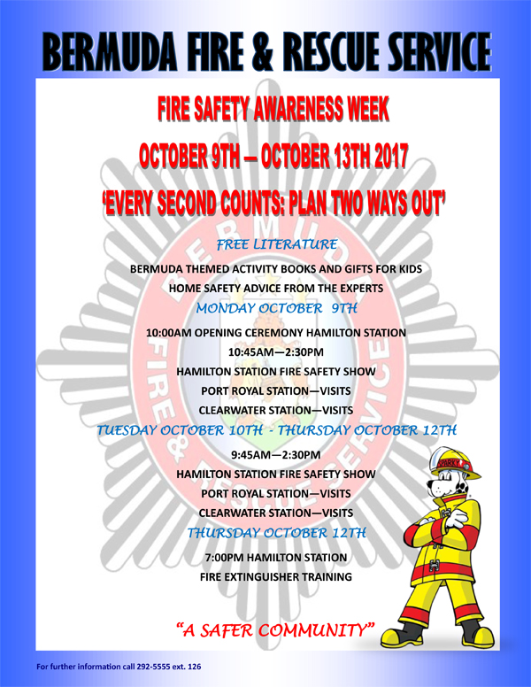 BFRS Fire Safety Awareness Week Bermuda Oct 2017