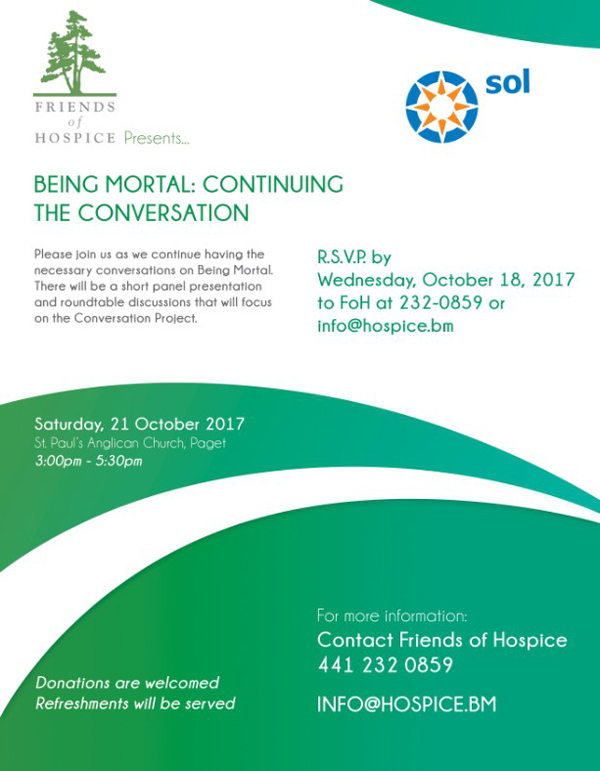 Being Mortal Continuing the Conversation Bermuda Oct 2017