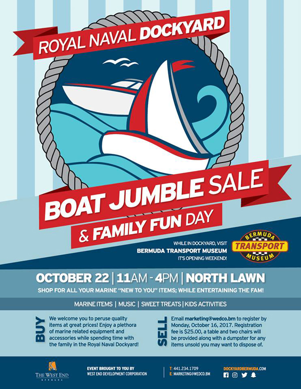 Boat Jumble Sale and Family Fun Day Bermuda Oct 2017