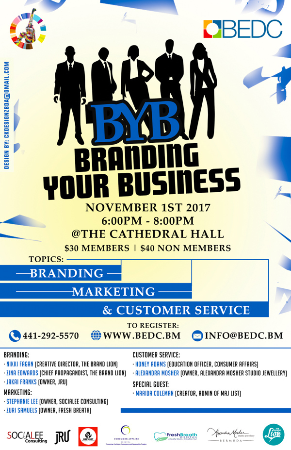 Branding Your Business Seminar Bermuda Oct 2017