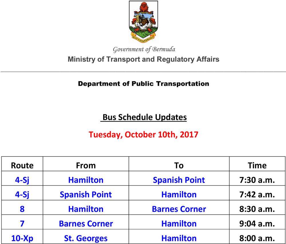 Microsoft Word - Bus Service Cancellation List for David Monday
