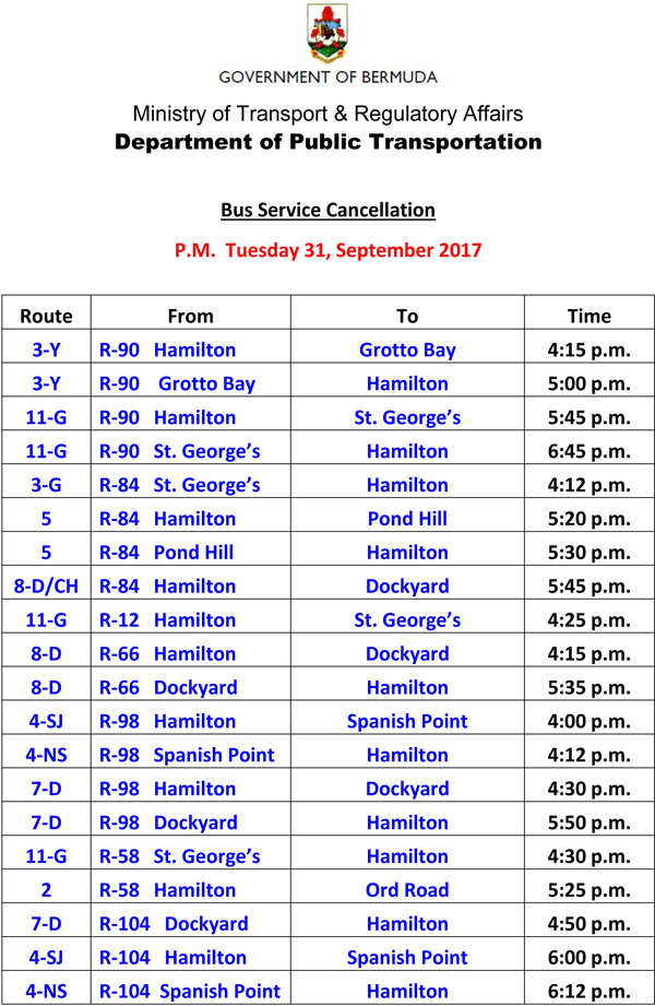 Bus Service Cancellation Tuesday 31-10-2017-1