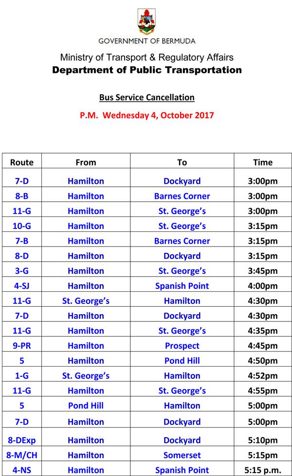 Bus Service Cancellation Wednesday 4-10-2017-1